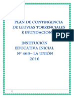 Plan Contingencia Lluvias Torrenciales Ie 463 Prof. Giamnina 2016