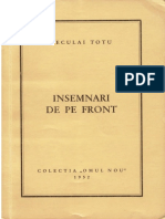 Neculai Totu - Insemnari de pe front (colectia Omul Nou 1952)