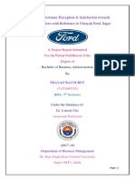 Customer satisfaction & Perception towards Ford Car Services