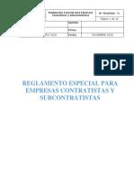 Reglamento Especial Para Empresas Contratista 2018