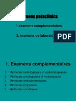 examens paraclinics