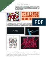 La Tipografía en El Diseño