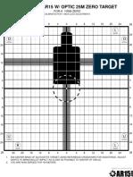 Improved AR15 Optic Target 100M