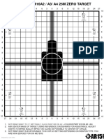 picture relating to Ar15 25 Yard Zero Target Printable known as Far better M4_AR15 Carbine Zero Focus 50M Projectiles Rifle