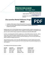 Rental compliance information