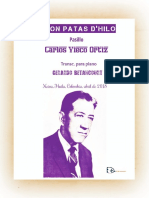 CANON PATAS D'HILO. Pasillo. Carlos Vieco Ortiz. Transc. para piano Gerardo Betancourt.