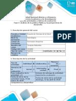 Guía de Actividades y Rúbrica de Evaluación - Fase 3 - Análisis de La Política Pública