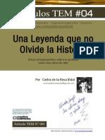 Carlos de La Rosa Vidal - Una Leyenda Que No Olvide La Historia
