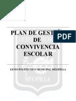 Plan de Trabajo Convivencia Escolar