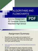 Algorithms and Flowcharts