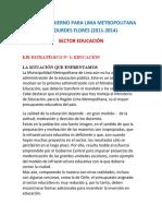 PLAN EDUCATIVO DE LOURDES FLORES (2011-2014)
