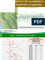 Cambio Climátic Cajamarca Tendencias temporales y espaciales