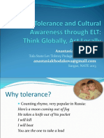 Fostering Tolerance and Cultural Awareness Through ELT