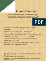 IC Chunks to Talk in Class