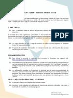 Edital Processo Seletivo 2018.1