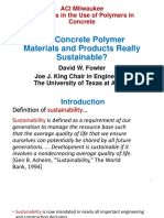 Are Concrete Polymer Materials and Products Really Sustainable