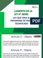 REGLAMENTO DE LA LEY N° 28585 HUANCAVELICA