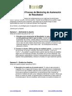 Bienvenido al Proceso de Mentoring de Aceleración de Resultados