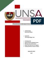 Programas Sociales en El Perú
