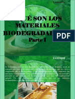 YAMMINE - ¿Qué Son Los Materiales Biodegradables?, Parte I