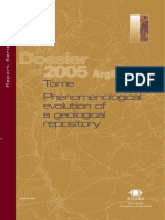 Dossier 2005 Argile - Tome Phenomenological evolution of a geological repository