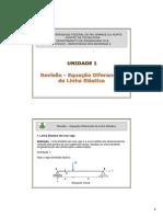 Aula 1. Revisão - Equação Diferencial Da Linha Elástica