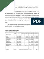 Working Balance Sheet & Working Profit and Loss (Cici)