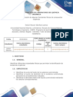 Preinforme Practica 1 - Determinación de Constantes Físicas de Compuestos Orgánicos