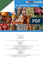 Tablas Peruanas de Composición de Alimentos 2017