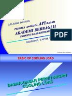 Akademi Berbagi II API ( Cooling Load by Manual & Software )