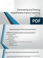 generating hypotheses-inquiry learning