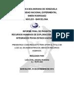 Informe Final de Pasantía 20042015