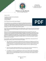 Schor Budget Recommendation Letter