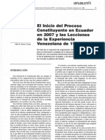 Inicio Proceso Ecuador
