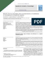 Relación Entre Los Estereotipos Sobre El Envejecimiento y El Rendimiento en Un Programa de Estimulación Cognitiva