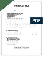 Curriculum Vitae Cinthia Lorena
