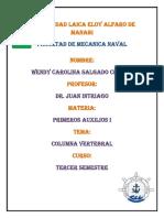 Informe Columna Vertebral
