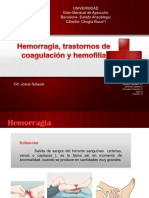 Hemorragia, Trastornos de Coagulacion