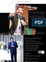 Emcee Aaron Dalmeida Profile