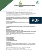 Estructura de La Constitucion Politica de Los Estados Unidos Mexicanos