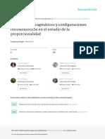 Significados Pragmaticos y Configuraciones Ontosemioticas en El Estudio de La Proporcionalidad