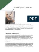 Técnica de La Mamografía y Tipos de Mamografía