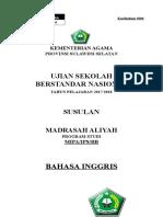 Soal USBN_Kur2006_Susulan BHS INGGRIS.doc