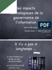 Impacts technologiques de la gouvernance de l'information