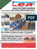 Periódico Lea Martes 27 de Marzo Del 2018