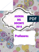Agenda Docente2018 Mariposa