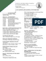 Parish Lenten Activities 2018