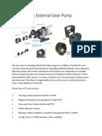 Non Metallic External Gear Pump