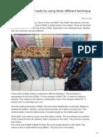 Batikdlidir.com-Batik Fabric Type Made by Using Three Different Technique