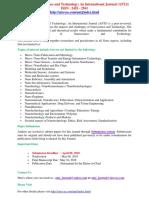373600443 Advanced Nanoscience and Technology an International Journal ANTJ